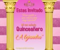 virtual celebration/quinceañera/birthday Medium Reghoek template