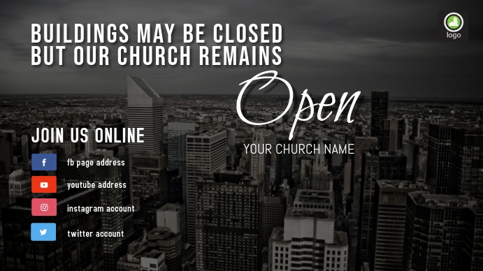 Virtual Church Tampilan Digital (16:9) template