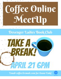 Virtual Coffee Group Flyer template