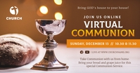 Virtual Communion Invitation Facebook Image Obraz udostępniany na Facebooku template