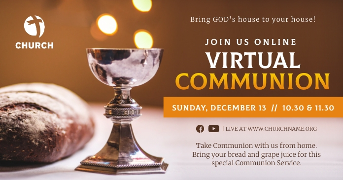 Virtual Communion Invitation Facebook Image template