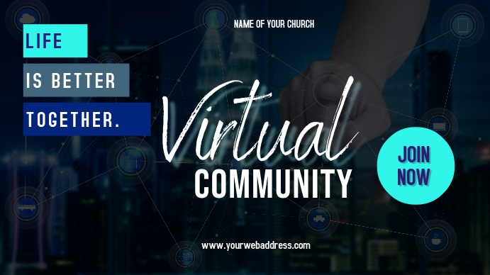 Virtual Community Ad Pantalla Digital (16:9) template
