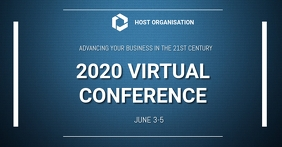 Virtual Conference Facebook Event Cover template
