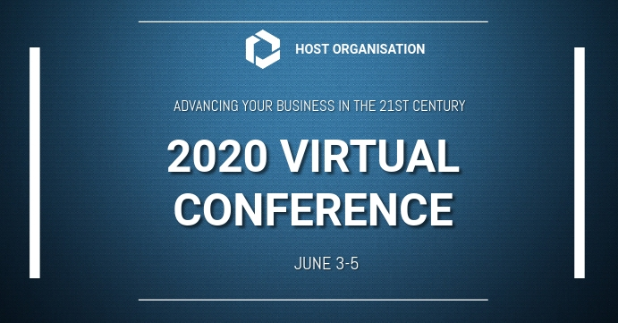 Virtual Conference Facebook begivenhed cover template
