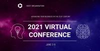 Virtual Conference Portada de evento de Facebook template
