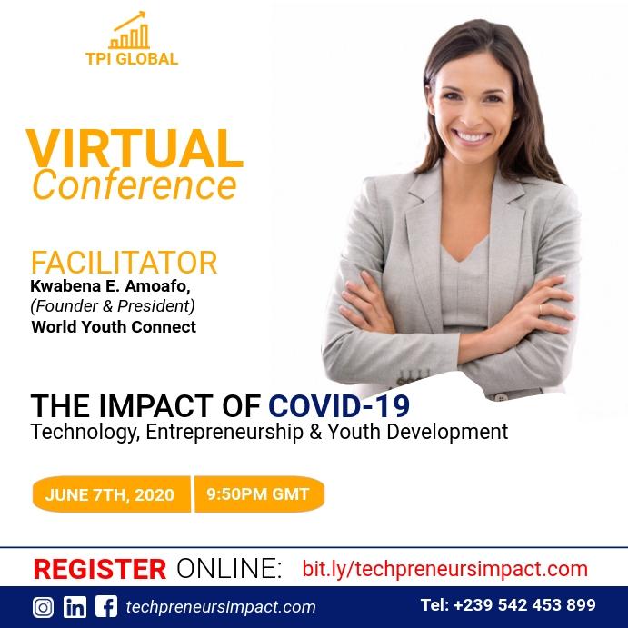 Virtual Conference Flyer Template Persegi (1:1)