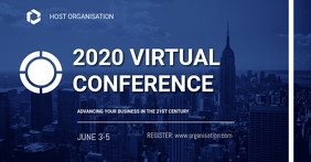 Virtual Conference flyers Sampul Acara Facebook template