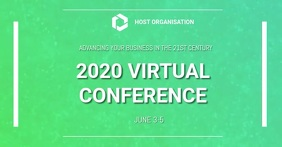 Virtual Conference video template Facebook begivenhed cover