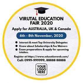Virtual Education Fair 2020 Template Quadrado (1:1)