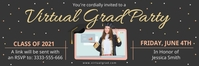 Virtual grad party invitation banner template