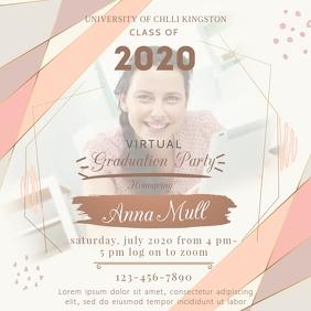 Virtual Grad Party Invite Social Media Post