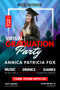 Virtual Grad Party Poster Design