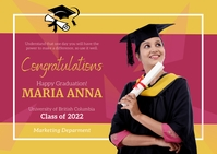 Virtual Graduation Party Postcard Открытка template