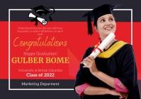 Virtual Graduation Party Postcard Открытка template
