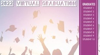 Virtual Graduation Video Display Цифровой дисплей (16 : 9) template