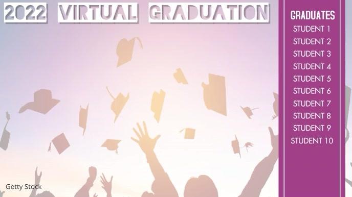 Virtual Graduation Video Display Pantalla Digital (16:9) template