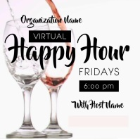 Virtual Happy Hour Instagram Post template