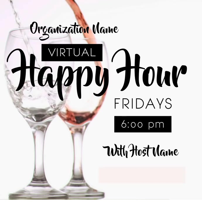 Virtual Happy Hour Pos Instagram template