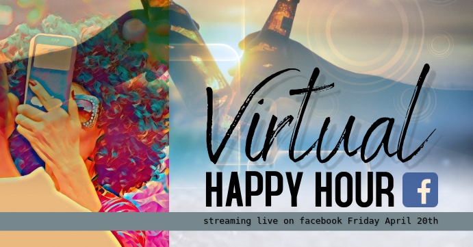 virtual happy hour facebook event cover template
