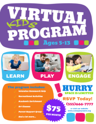 Virtual kids program