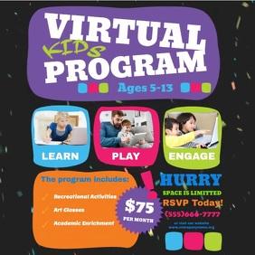 Virtual kids program Instagram Post template