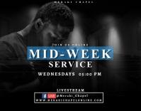 Virtual Mid-week service Poster/Wallboard template
