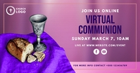 virtual online communion service church event template