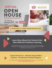 Virtual Open House Flyer template