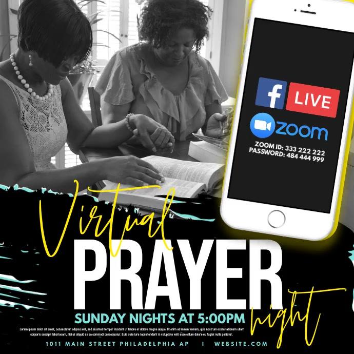 Virtual Prayer โพสต์บน Instagram template