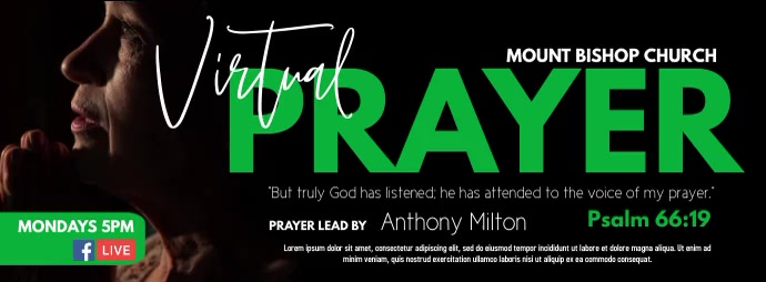 Virtual Prayer Facebook 封面图片 template