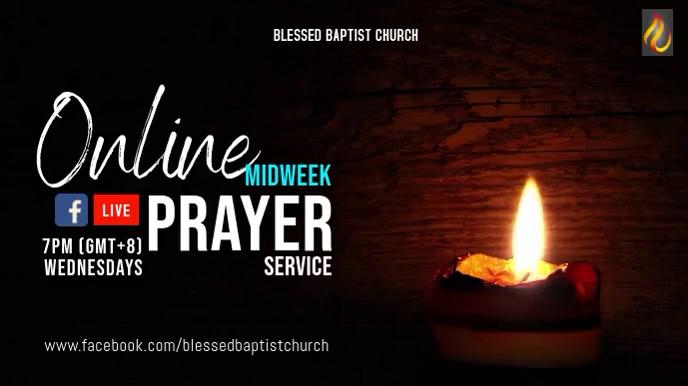 Virtual Prayer FB Live 数字显示屏 (16:9) template