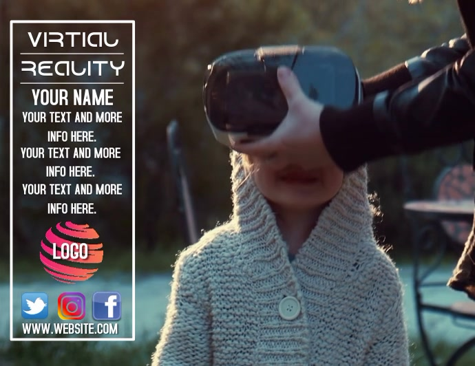 VIRTUAL REALITY DIGITAL AD FLYER TEMPLATE