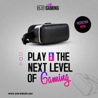 virtual reality gaming โพสต์บน Instagram template
