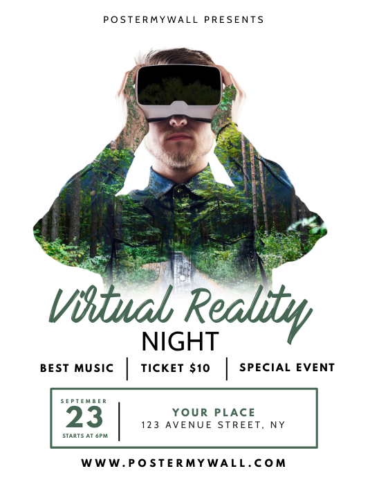 Virtual Reality Night Flyer Design Template