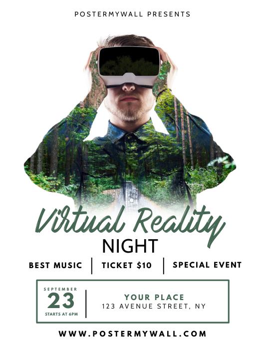 Virtual Reality Night Flyer Design Template