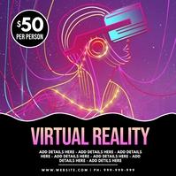 Virtual Reality Poster โพสต์บน Instagram template