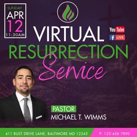Virtual Resurrection Service Instagram Post template