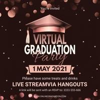 Virtual school graduation party invite Instagram-bericht template
