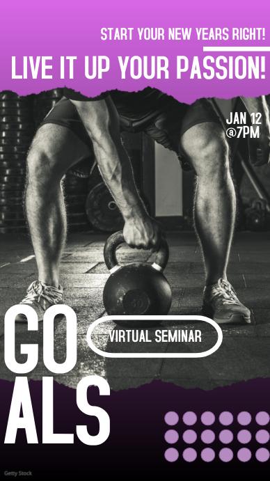 Virtual Seminar Instagram Stories Ad Instagram-verhaal template