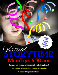 Virtual Storyyime Flyer (US Letter) template