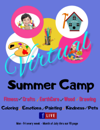 virtual summer camp/facebook live/online camp