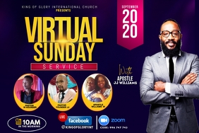 Virtual Sunday flyer Label template