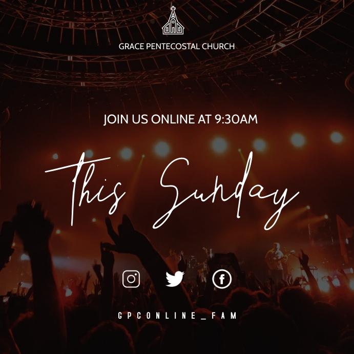 Virtual Sunday service Instagram-Beitrag template