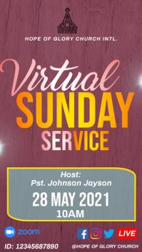 Virtual Sunday Service Instagram Story template