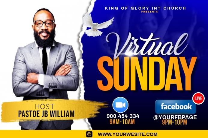 virtual Sunday service 标签 template