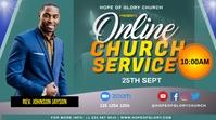 Virtual Sunday Service Tampilan Digital (16:9) template
