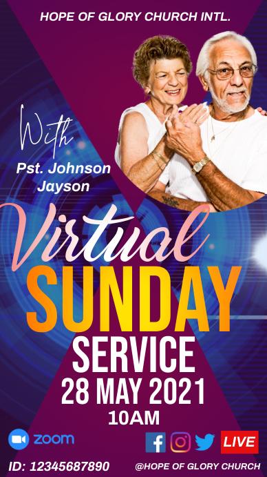 Virtual Sunday Service Historia de Instagram template