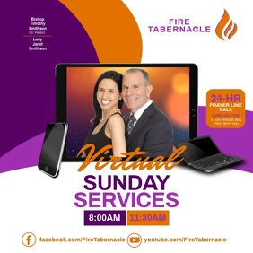 Virtual Sunday Services Instagram Post template