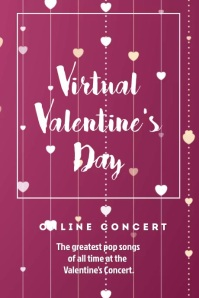 Virtual Valentine's Day Video Templates Poster