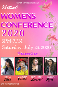 Virtual womens conference empowerment 海报 template